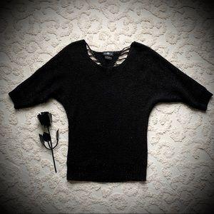 Sparkly Dolman Crochet Sweater